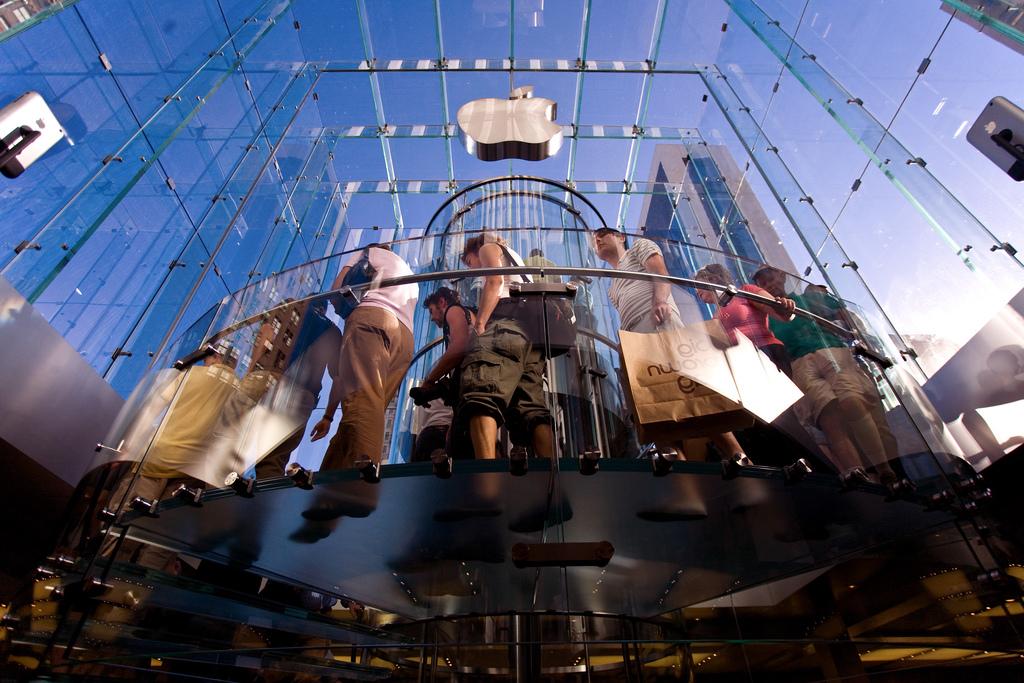Apple Store, 5th Avenue, New York. Credit Mark Sebastian Flickr