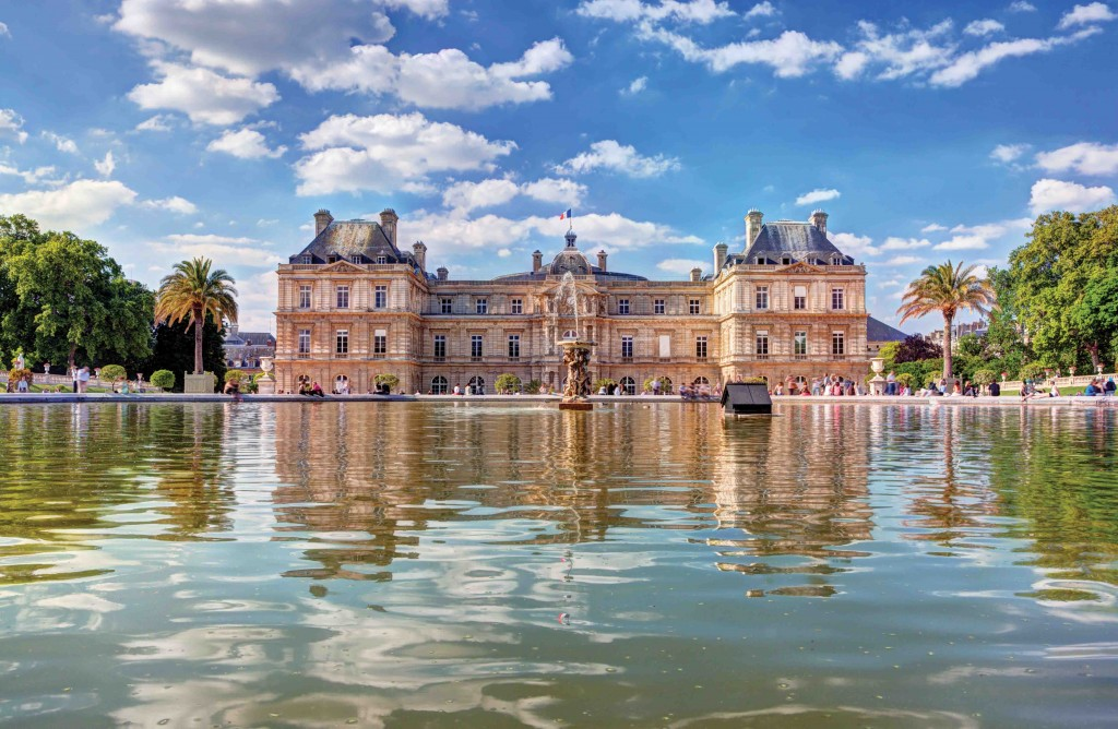 The Luxembourg Palace in The Jardin du Luxembourg, Paris, France