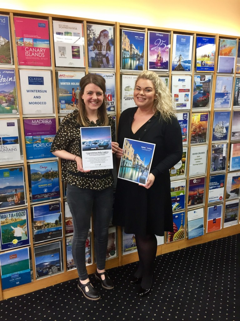 Nicole Graham (Osprey Holidays) and Hollie Leighton (Spa Travel) at Spa Travel, Wetherby